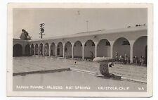 1956 RPPC Roman Plunge Aalders Hot Springs Calistoga CA