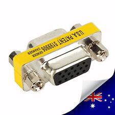 1  x  15-Pin VGA Female to Female Adapter Converter - NEW (N021)