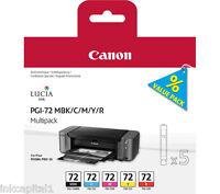 Canon PGI-72 Set of 5 x Original OEM Multi Pack Ink Cartridges MBK, C, M, Y, R