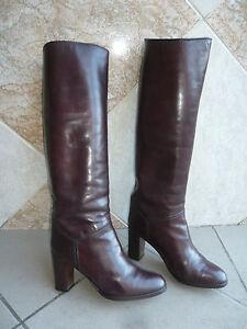 """Boots Vintage """" Bordeaux """" Stéphane Kelian (X) T .4, 5 - (37,5)"""