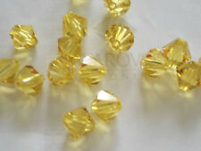 20 Light Topaz Swarovski Crystal Beads Bicone 5328 6mm