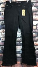 Gravitate Women's Motorcycle Jeans Denim Black Stretch Jeans size 12/34 NWT