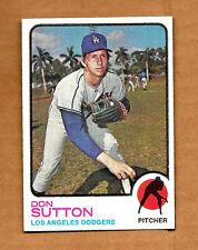 Don Sutton Los Angeles L.A. Dodgers Pitcher 1973 Topps Baseball #10 NM HOF LA