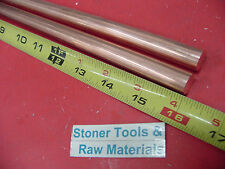 2 Pieces 12 C110 Copper Round Rod 16 Long H04 Solid Cu New Lathe Bar Stock 5