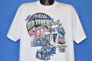 vtg 90s TY-RODS OLD TIMERS REUNION 94 22ND CLASSIC CAR HOT ROD HUDSON t-shirt XL