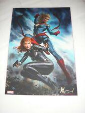 2019 Sdcc Black Widow Captain Marvel Art Print Sign By Adi Granov 11.7x16.5(A3)