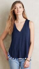 NWT Anthropologie WEEKDAYS LAYERED TANK by DELETTA XS BLUE MOTIF