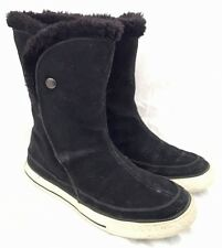 Converse All-Star Beverly Black Suede Sneaker Boot Faux Fur Lined Size 6
