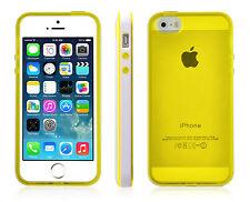 Sooper Transparent TPU Bumper Case Cover for iPhone 5s / 5 Yellow