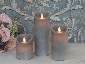 LED Echt-Wachs Kerze mit beweglicher Flamme & Timer, bewegliche flackernd