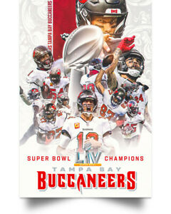 Tampa Bay Buccaneers Player LV Champions Poster Full Size