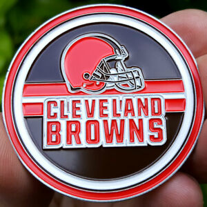 PREMIUM NFL Cleveland Browns Poker Card Guard Chip Protector Golf Marker Coin