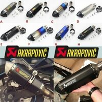 38mm-51mm Motorcycle Exhaust Muffler Tail Pipe Slip on DB Killer carbon fiber