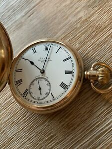 Elgin Pure 9ct Gold Pocket Watch