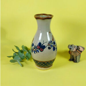 Authentic Mexican Pottery Flower Vase Home decor Flower Holder Butterfly Design