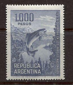 ARGENTINA 1968, FISH: TROUT, FISHING SPORT, Scott 829A, MNH