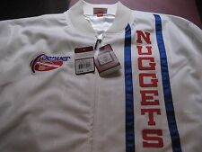 MENS Mitchell Ness RETRO DENVER NUGGETS TRACK Jacket WHITE/RED/BLUE 52 2XL $150