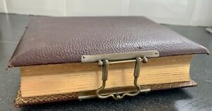 Victorian Calf Leather Bound Photograph Album With Brass Clasp