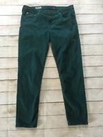 AG Adriano Goldschmied Stevie Ankle Green Stonewashed Skinny Jeans Size 32