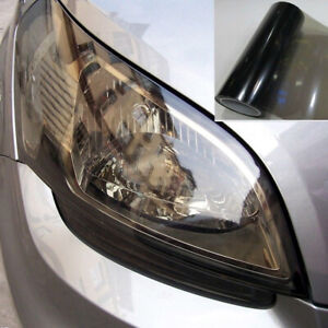 Gloss Lights Black Smoke Vinyl Film Tint Headlight Taillight Wrap Cover 40*150cm