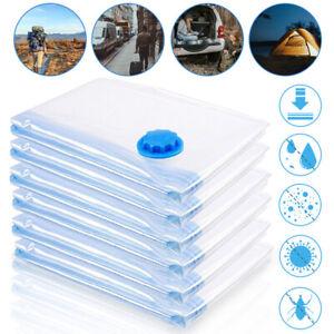 1-5x Vakuumbeutel Aufbewahrungsbeutel Beutel für Betten Kleidung Platzsparer