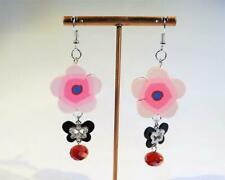 CG5275...POLYMER CLAY & CRYSTAL EARRINGS - FREE UK P&P