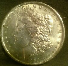 1890 O Morgan Silver Dollar High Grade.Red Hair toning
