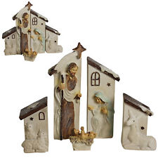 Winter Wonderland Christmas Nativity Mary Joseph & Baby Jesus - 5 Piece Set
