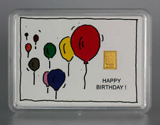 1 Gramm Gold 999,9 + Zertifikat ► 1g Goldbarren ► Geburtstag Geschenk Birthday