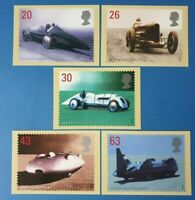 Set of 5 PHQ Stamp Postcard Set No.201 British Land Speed Record 1998 CL0