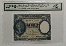 1935 - Hong Kong & Shanghai Bank 1 Dollars PMG45