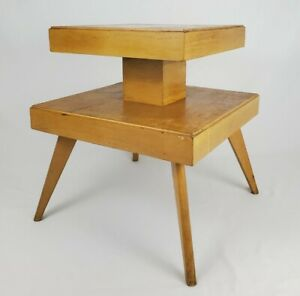 Mid-Century End Table With Spider Legs 2 Tiered Retro Atomic Vintage