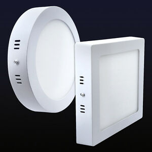 12W LED White Body Surface Mount Ceiling Panel Down Light Cool White