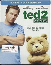Ted 2 ( BLU-RAY /DVD / DIGITAL ) TARGET STEELBOOK plus ted 2 plus bear