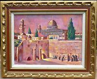 """Jerusalem, The Wailing Wall"" original oil by Listed Artist Sig Gruenwald"