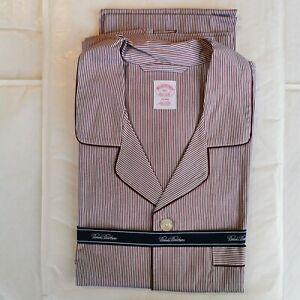 Brooks Brothers Men's Pinstripe Cotton Broadcloth Pyjamas XXL