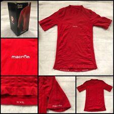 New listing Macron Beta Technical Undershirt Thermax Fabric White XXL Red Sleeves 2XL