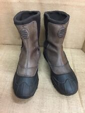 Snow boots mens LL BEAN TEK 2.5 Permaloft brown Rubber Winter Size 10.5