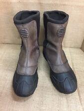 Snow boots mens LL BEAN TEK 2.5 Permaloft brown Rubber Winter Size 10.5