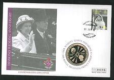 2007 Diamond Wedding Anniversary Coin CC - £5 Coin & Tristan Da Gunha Pmk