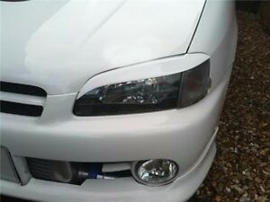 Unpainted Headlight Eyebrows Eyelids for 1996-1999 Toyota Starlet EP91 Glanza