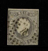 Portugal SC# 23, Used, Hinge Remnant, tiny pinhole, mostly gummed - S4818