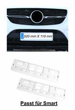 2x Top Kennzeichenhalter Nummernschildhalter Hochglanz Weiß Made in EU (68
