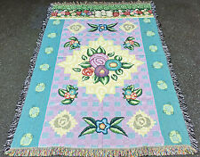 Floral Nouveau Tapestry Afghan Throw