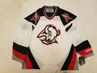 NWT Buffalo Sabres Jersey CCM new with tags white goat head mens white Large L