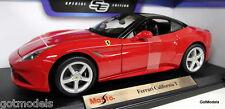 1/18 Maisto escala 46629 Ferrari California T Coupé Rojo Coche Modelo Diecast