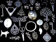 150g Large Random Mix - Tibetan Silver Charms Beads Findings Jewellery Mix G156