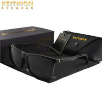 KEITHION Mens Womens Polarized Sunglasses Square Fashion Driving Eyewear UV400