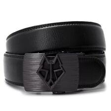 Genuine Leather Mens Automatic Wolf Belt Buckle removable Dress Belt Adjust