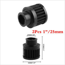 Universal 1 Inch 25mm Car Air Filters For Cold Air Intake High Flow Vent Black